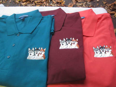 Polo Shirt with Embroidered Puppies Logo