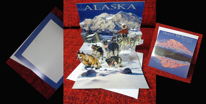 Alaska Pop Up Note Cards - 2 Designs